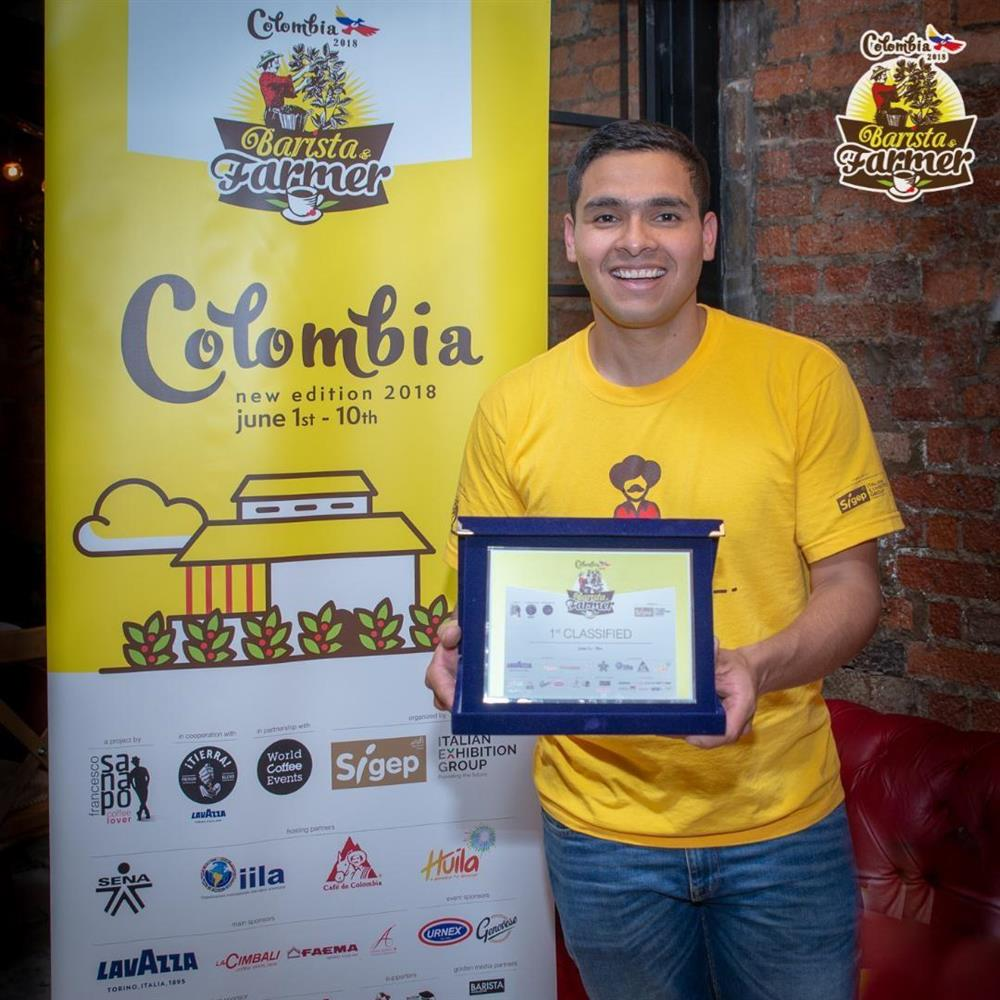 Colombian Diego Campos is the Winner of the Fourth edition of Barista & Farmer