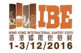 IBE - Hong Kong International Bakery Expo 2016, 1-3 December
